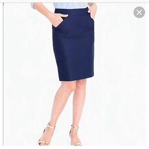 J Crew Pencil Skirt - Navy